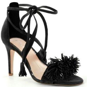 Gianni Bini Hadley Black Fringe Heel sz 7M